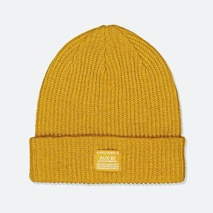 Cotton On Men's Women's Basic Ribbed Yellow Beanie